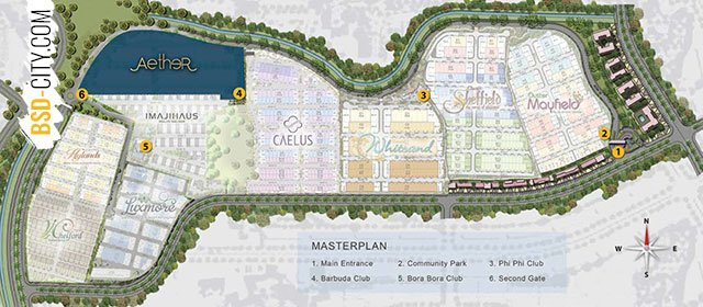 Aether BSD Greenwich Park Siteplan