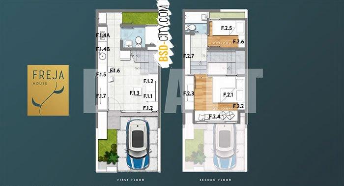 Denah Furniture Cluster Freja House BSD