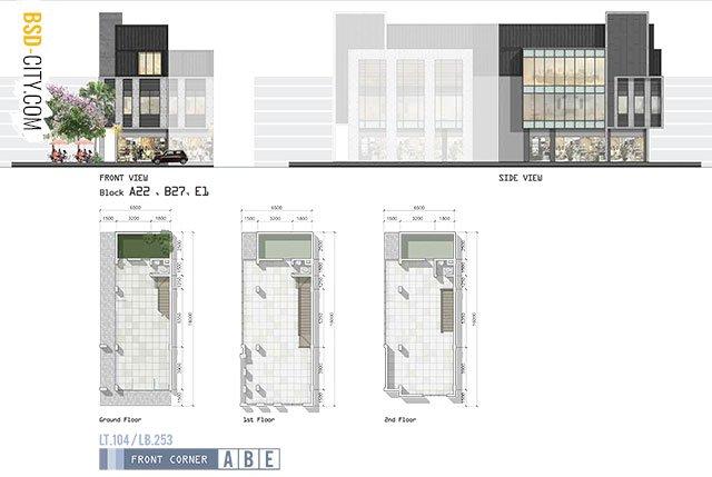 Fasad Ruko West Park Blok A