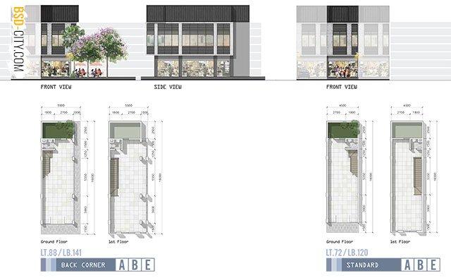 Fasad Ruko West Park Block B