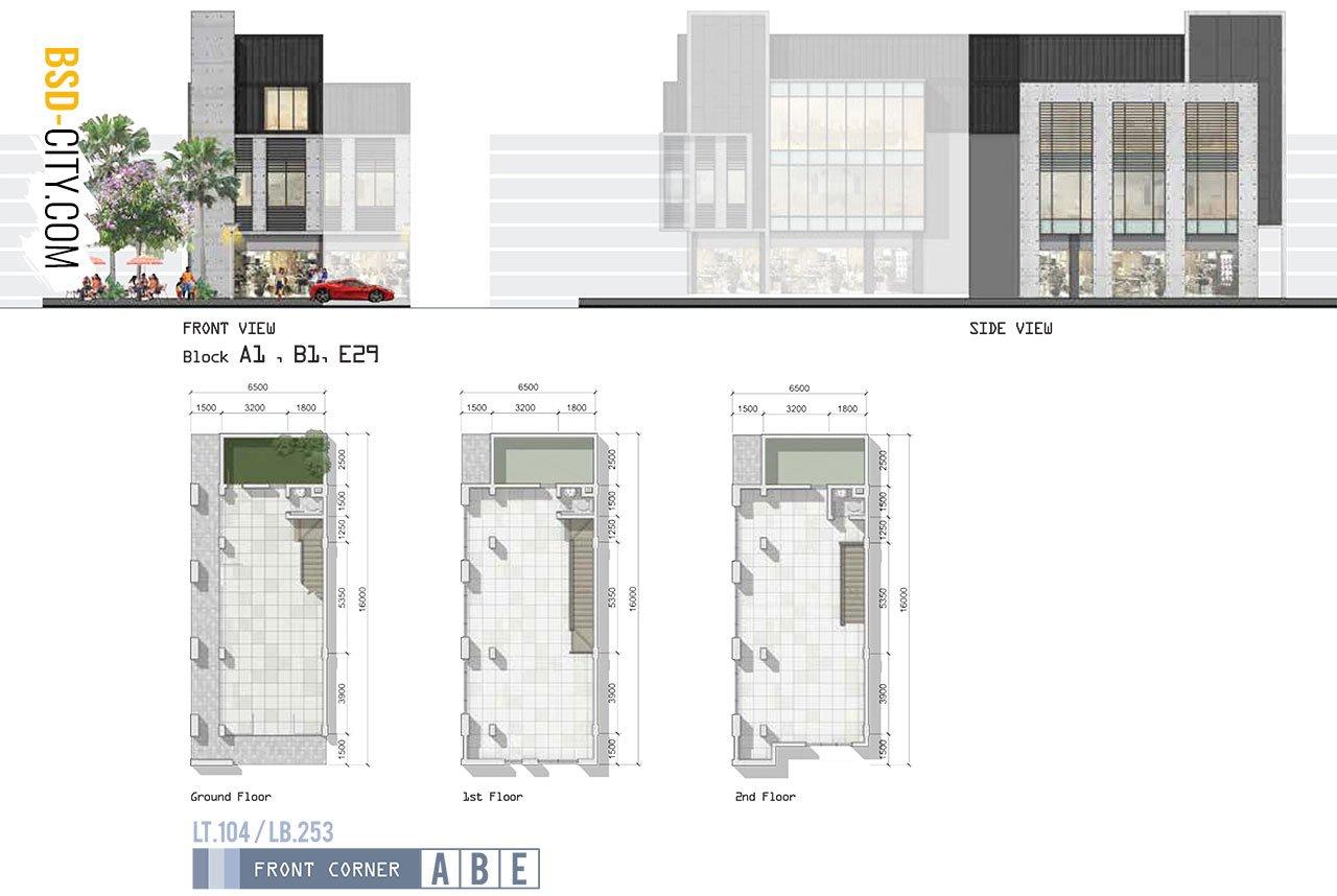 Fasad Ruko West Park Block E