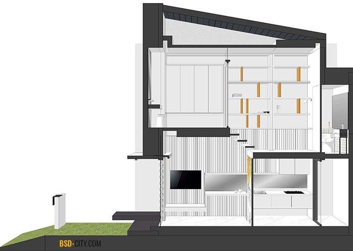 Inspirahaus Tabebuya BSD 3D Layout