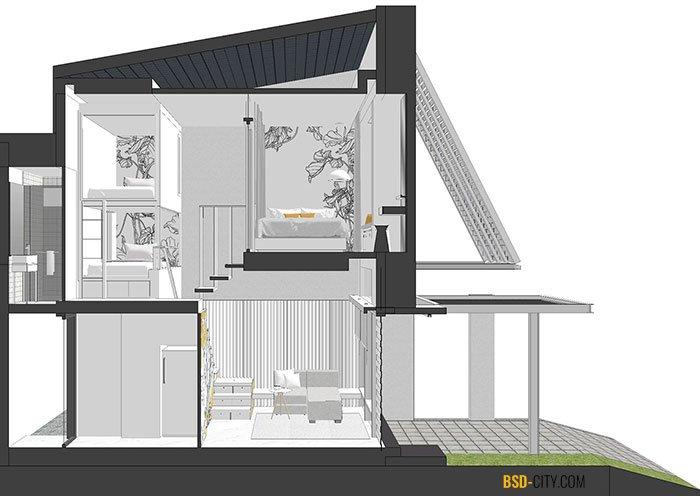 Layout 3D Inspirahaus Tabebuya BSD