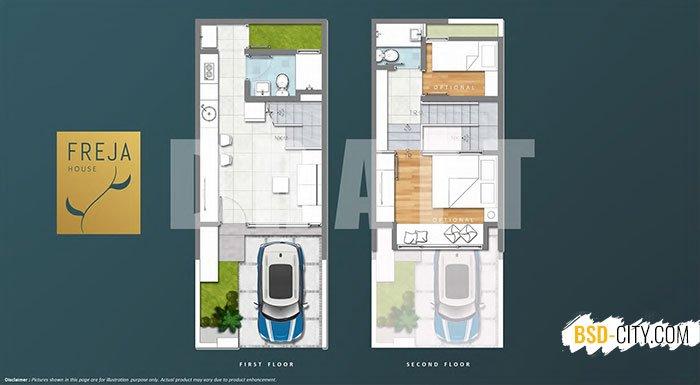 Layout Freja House BSD