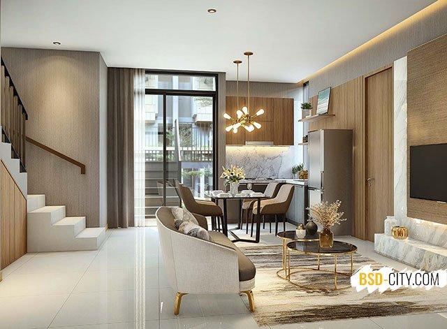 Living Room Rumah Lebar 8 Quantis Signature BSD