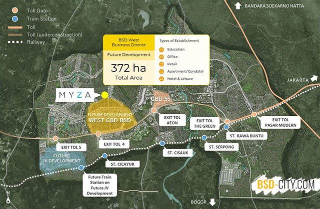 Lokasi Cozmohouse Myza BSD City