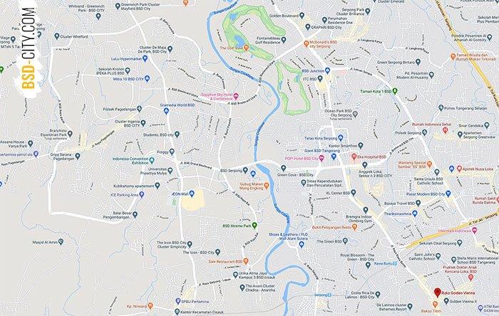 Lokasi Ruko Golden Vienna BSD