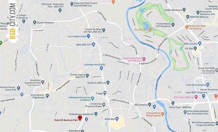 Lokasi Ruko Ice Business Park BSD