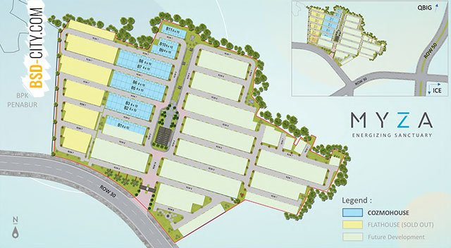 Masterplan Cluster Cozmohouse Myza BSD City