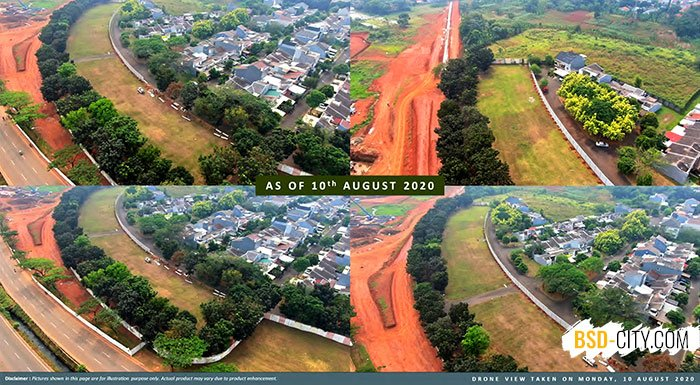 Progress Pembangunan Freja House BSD Agustus 2020