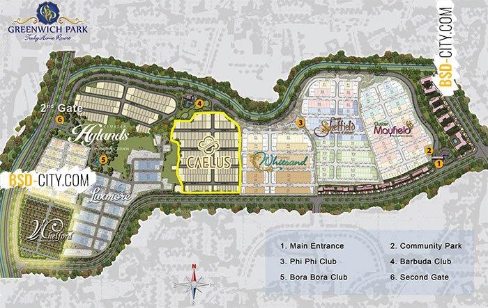Site Plan Greenwich Park BSD