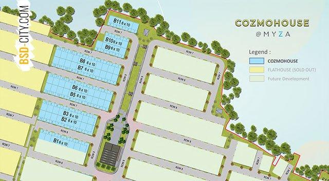 Siteplan Cluster Cozmohouse Myza BSD City